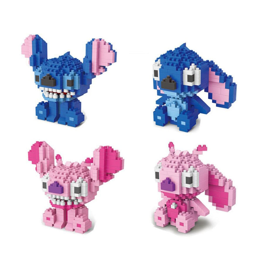 Classic cartoon image assemble nano bricks Lovely Stitch and Angie micro diamond building block enlighten educational toys