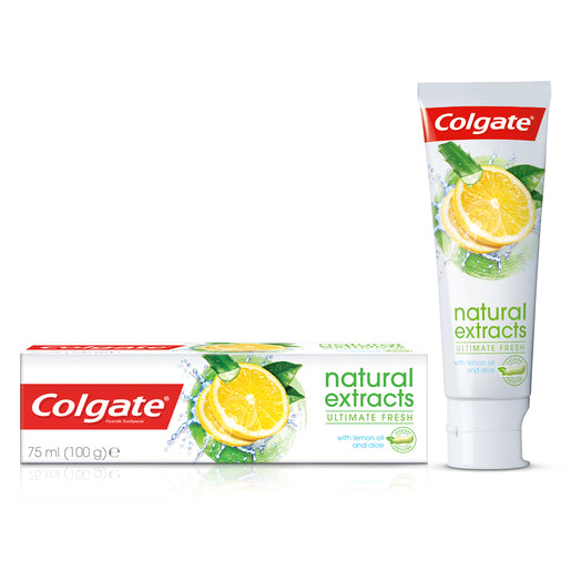 Colgate Toothpaste Natural Extracts With Asian Lemon Oil And Aloe Extracts 75ml