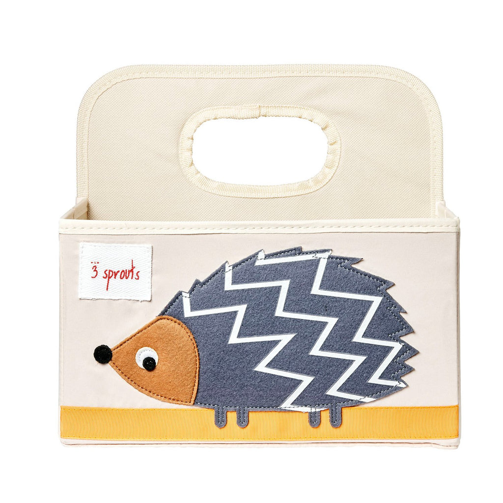 3 Sprouts Diaper Caddy - Hedgehogs