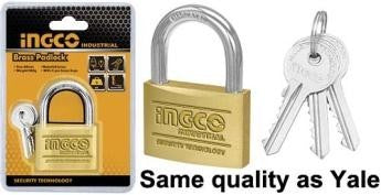 Heavy duty brass padlock