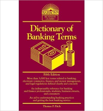 BARRONS-DICTIONARY OF BANKING TERMS
