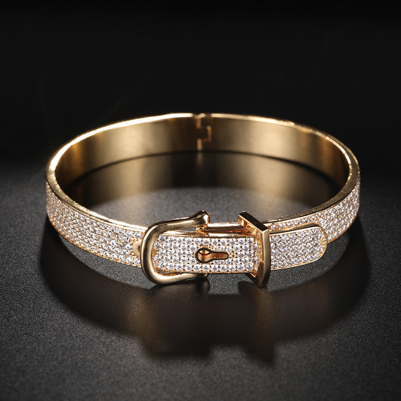 Dazz Gold Color Luxury Shiny AAA Cubic Zirconia Women Bracelet Bangle Ring Set Dress Party Lady Fashion Jewelry Sets Sets Gifts 2019