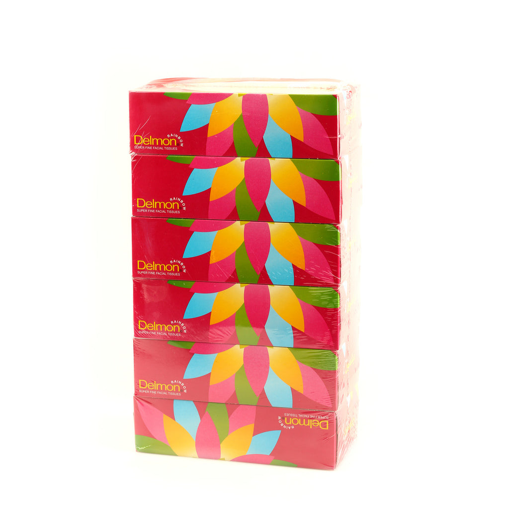 Delmon Facial Tissue Rainbow 5 x 150pcs