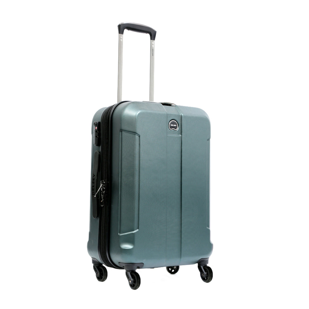 Delsey Depart Cabin 4 Wheel Hard Trolley 55cm Green