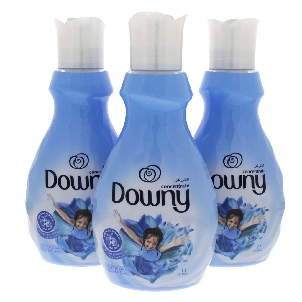 Downy Concentrated Malodor Protection Valley Dew 1Litre x 3pcs