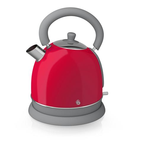 Swan Retro Dome Electric Kettle Red