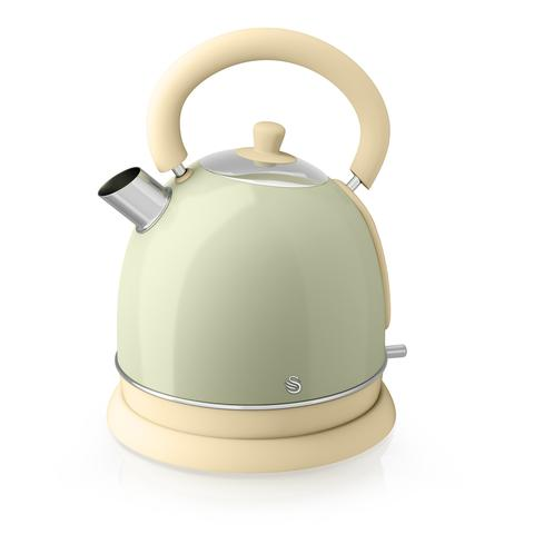 Swan Retro dome Electric kettle Green