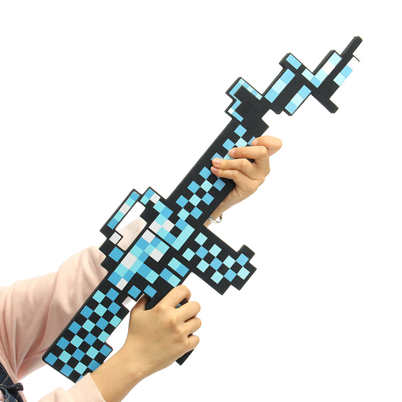 EVA Mosaic Military Model Diamond Sword For Kids Children Christams Creative Gift Safety Toys