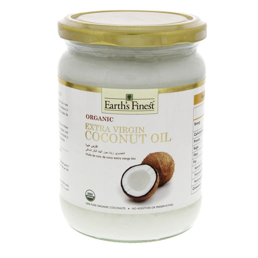Earth's Finest Organic Extra Virgin Coconut Oil 500ml