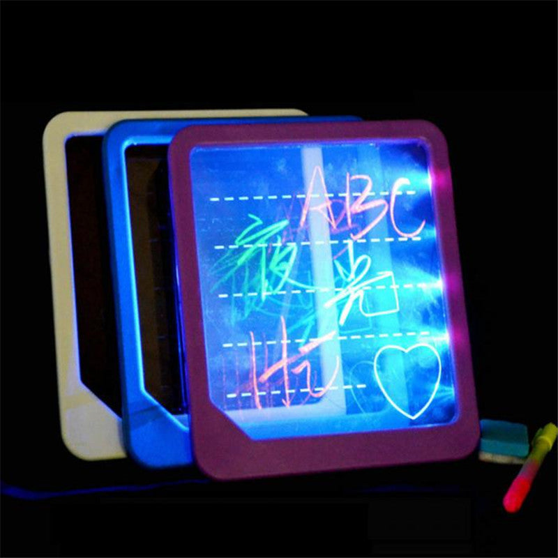 Electronic LED Light Fluorescent Writing Board Luminous Wordpad Handwriting Pad For Kids Gift Toys