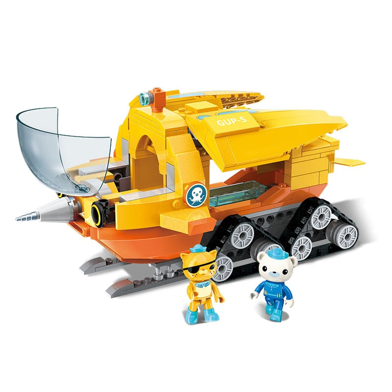 Enlighten Building Block Octonauts GUP-S Polar Exploration Vehicle & Barnacles kwazii 275pcs Educational Bricks Toy For Boy Gift