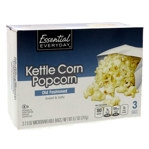 Essential Everyday Kettle Corn Sweet And Salty Pop Corn 247g