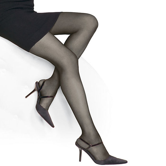 Everyday Elegance Seamless Black Pantyhose Tights