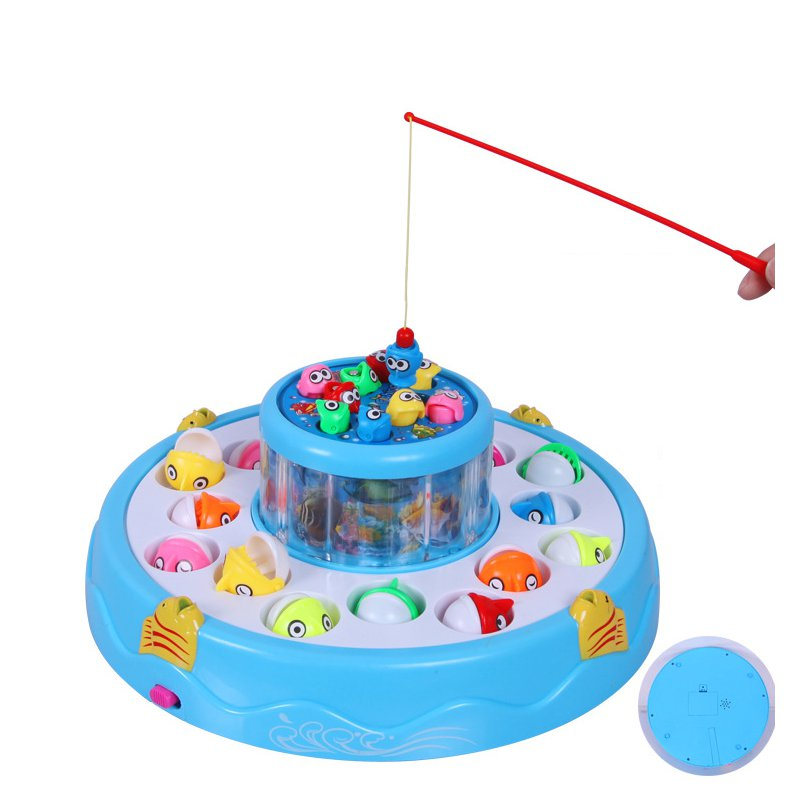 Fishing Toys Set Children Electric Rotating Educational Gifts Magnetic Toys