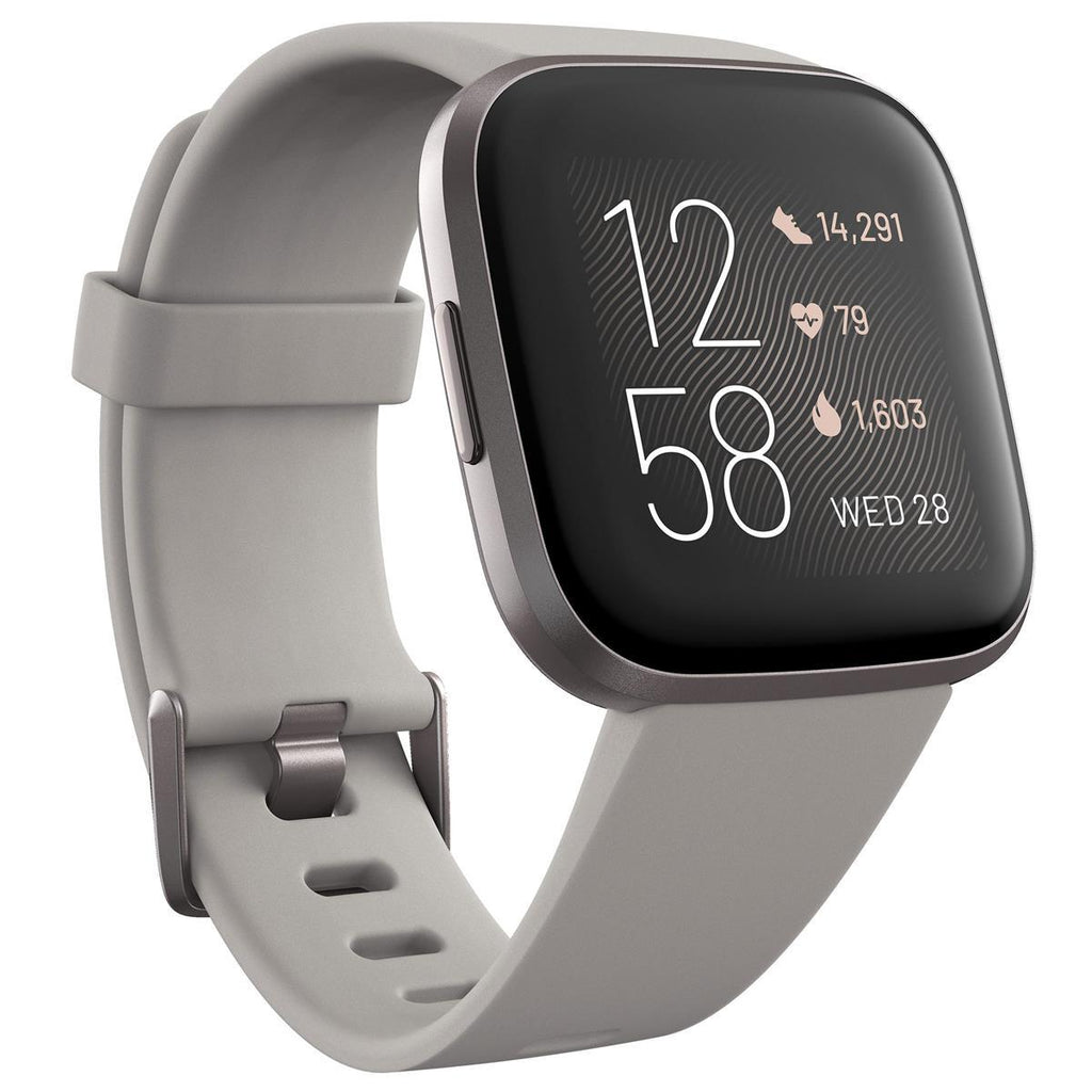 Fitbit Versa 2 Health and Fitness Smartwatch حجر / ضباب ألومنيوم رمادي