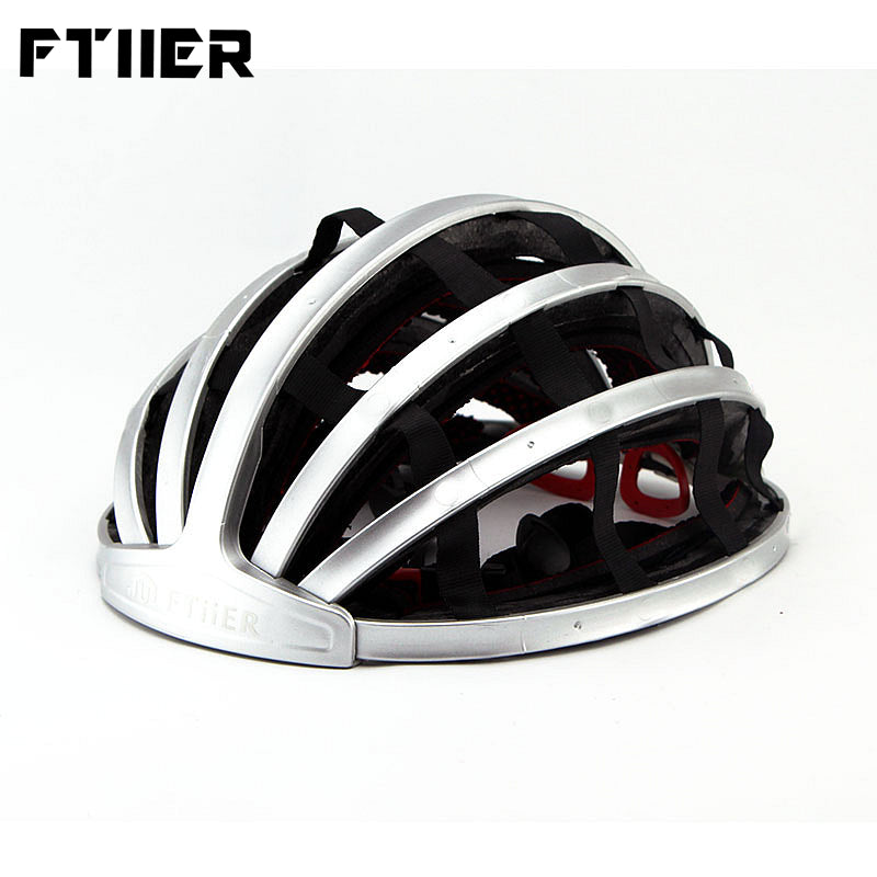 Ftiier Foldable Cycling Helmet Portable Road Bike Bicycle MTB Helmets Outdoor Sport Mountain Hiking Camping Safety Hat Hot Sale