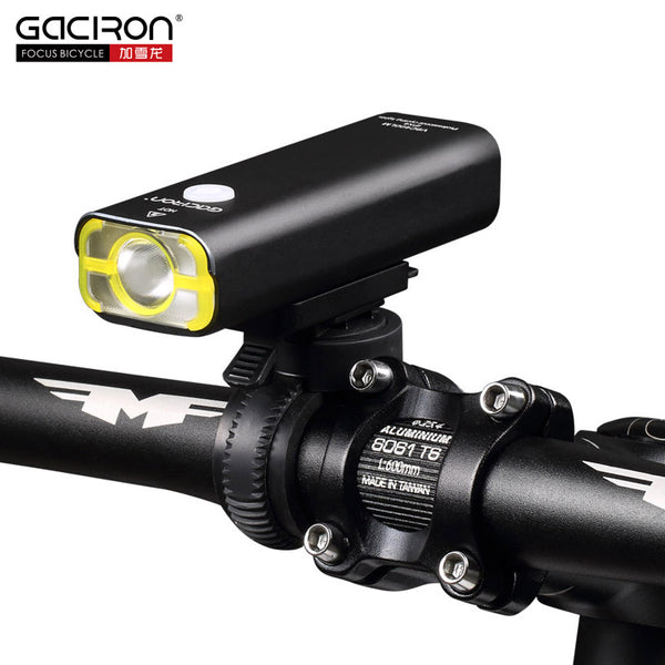 GACIRO V9C-400 Bicycle Headlight 400Lumens Bike Front Lighting Handlebar Quick Mount XPG LED Lamp 2500mAH Battery USB Charge