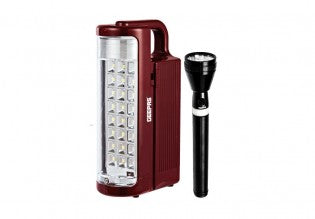 3SC Rech Led Flashlight+Led Lantern1X10