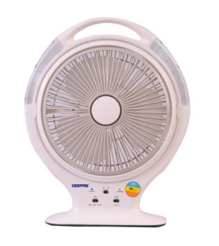 "14"" Rechargeable Fan With 20Led 1X2"
