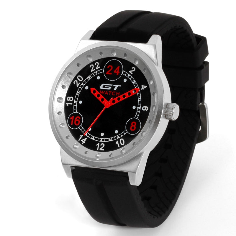 GT 003 Silica Gel Strap Endurance Race Style Sprot Casual Men Quartz Wrist Watch