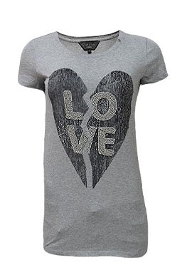 Gas Love Print Grey Tee