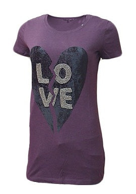 Gas Love Print Purple Tee