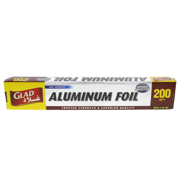 Glad Aluminum Foil 30cmx61.9m 200sq.ft