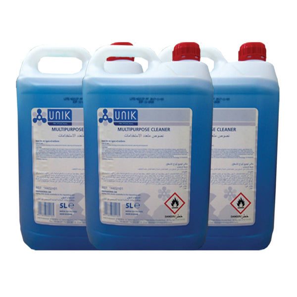 UNIK MULTIPURPOSE CLEANER WITH ALCOHOL (5LTR)