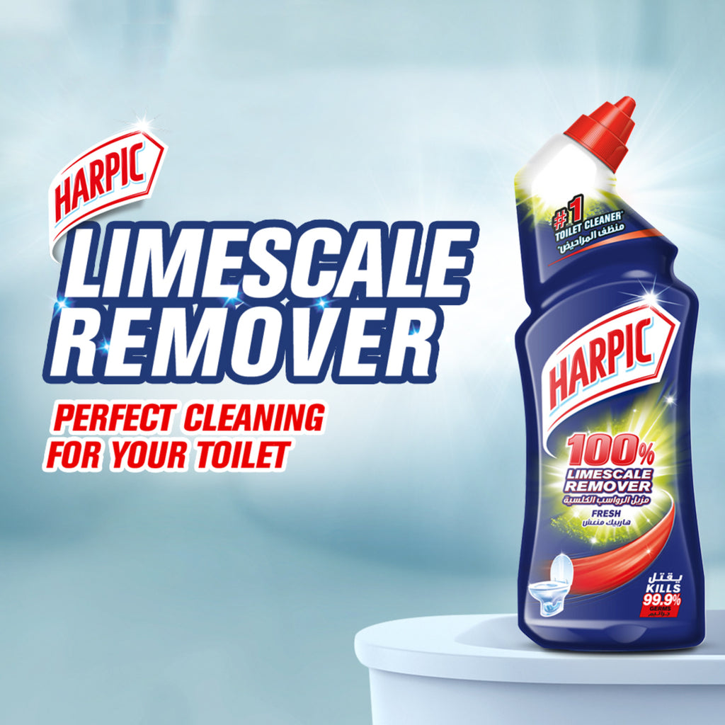 Harpic Toilet Cleaner Liquid Limescale Remover Fresh 1Litre
