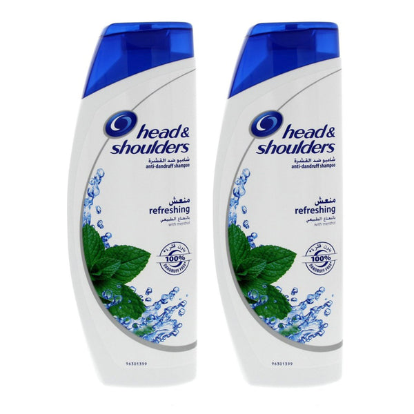 Head & Shoulders Refreshing Menthol Shampoo 400ml x 2pcs