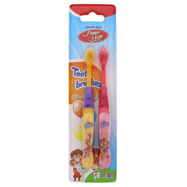 Home Mate Soft Tooth Brush Assorted Color For Kids 2pcs