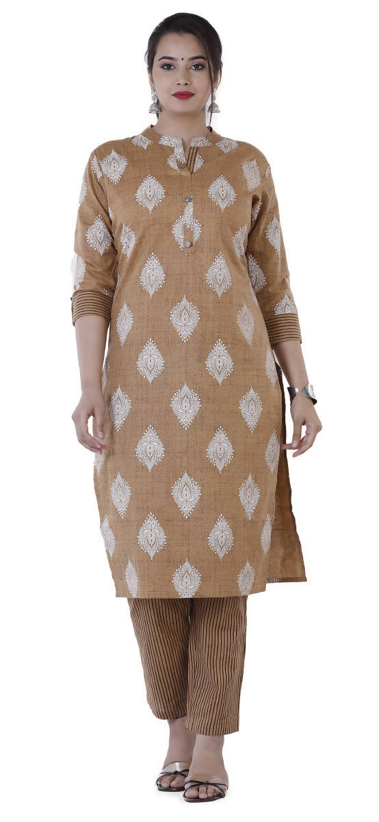 SUNSIM FASHION - Paaru - Printed Cotton Kurti with Cotton Pants