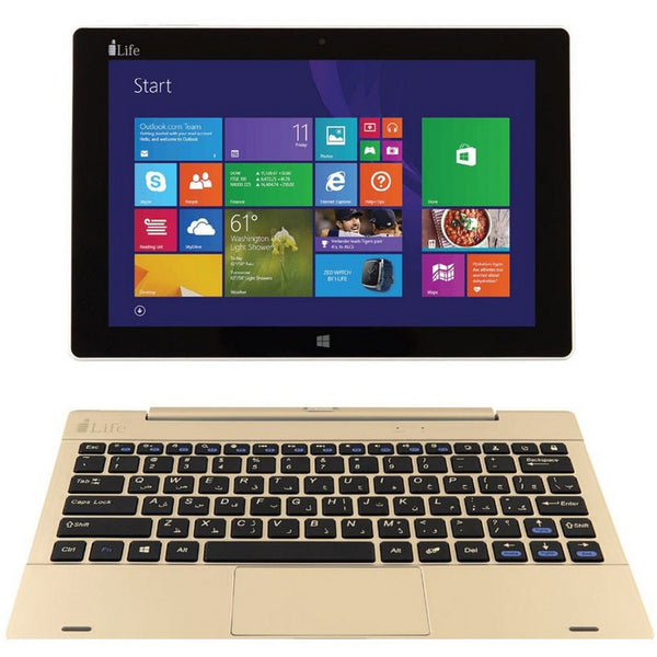 I-Life 2in1 ZED Book 10.1inch QC Gold