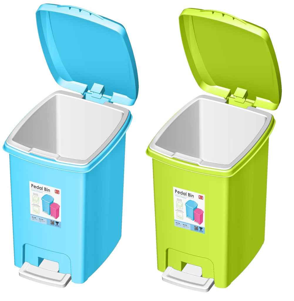 JCJ Pedal Bin 2143 Assorted Color 10Ltr 1pc