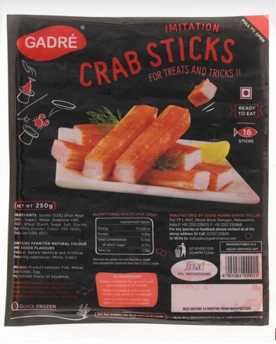 Gadre Imitation Crab Sticks 250g 16pcs