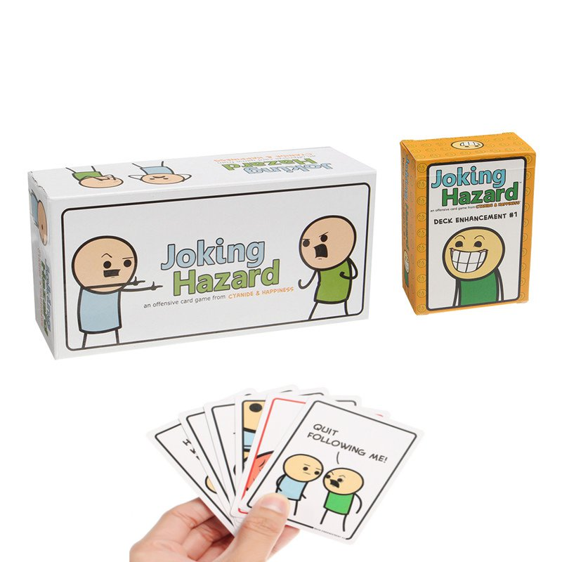 Joking Hazard Game Card Kickstarter Cyanide And Happiness Box + Expansion 1 Party Fun Toys
