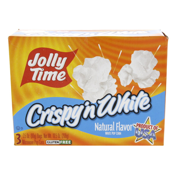 Jolly Time Crispy 'n White Natural Flavor Pop Corn 298g
