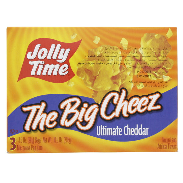 Jolly Time The Big Cheez Ultimate Cheddar Microwave Pop Corn 298g