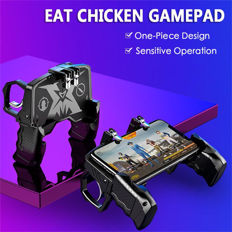 K21 PUBG Mobiele Gamepad Joystick Metalen L1 R1 Trigger Game Shooter Controller for iPhone Android Phone Gaming Gamepad r20