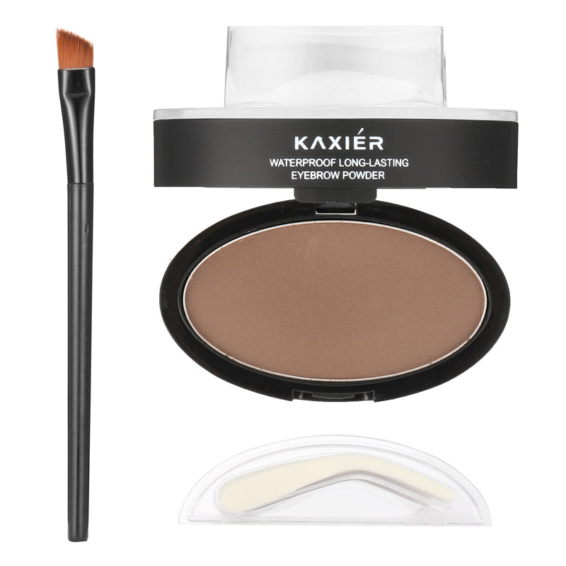 KAXIER Brow Stamp Eyebrow Powder Set Makeup Brush Waterproof  Long Lasting Cosmetic Dark Grey Brown