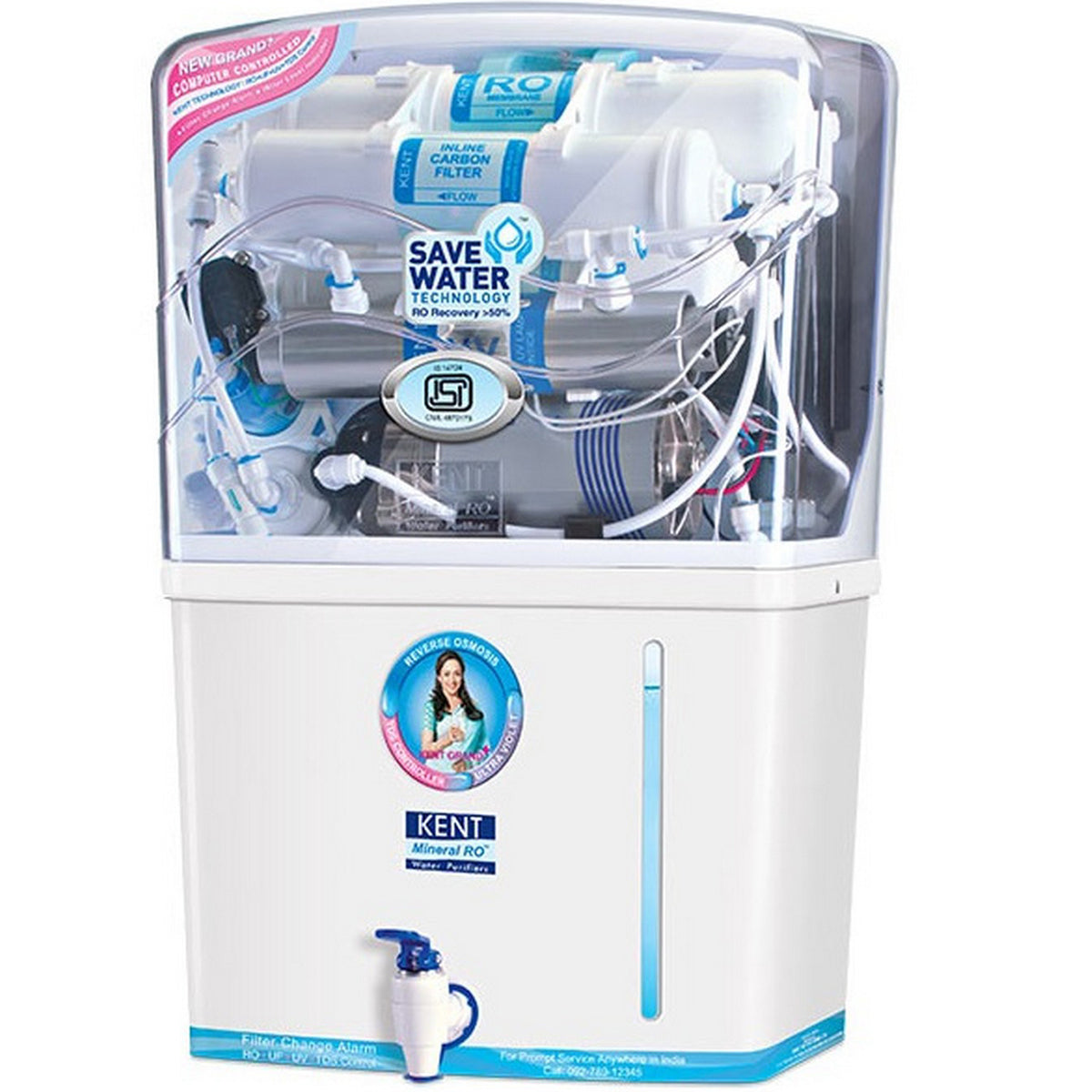 Kent Grand + Mineral RO + UV + UF Water Purifier with TDS Controller