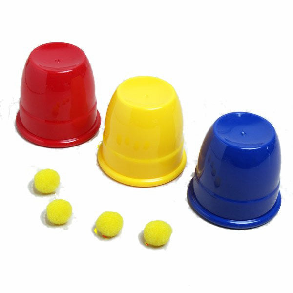 Kingmagic Three Balls Return Cups Magic Toy Magic Props G0595