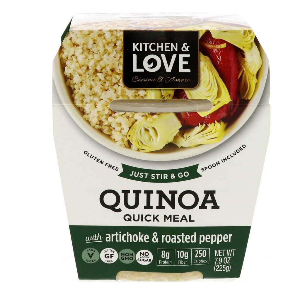 Kitchen & Love Quinoa Quick Meal With Artichoke & Roasted Pepper 225g