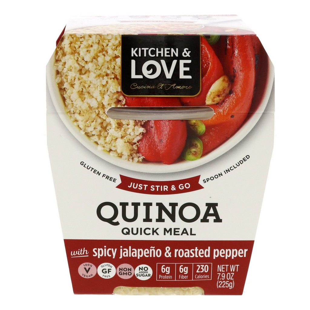 Kitchen & Love Quinoa Quick Meal With Spicy Jalapeno & RoastedPepper 225g