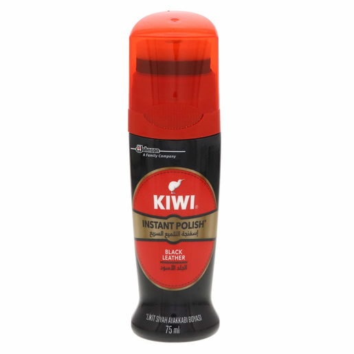 Kiwi Black Leather Instant Polish Black Leather 75ml