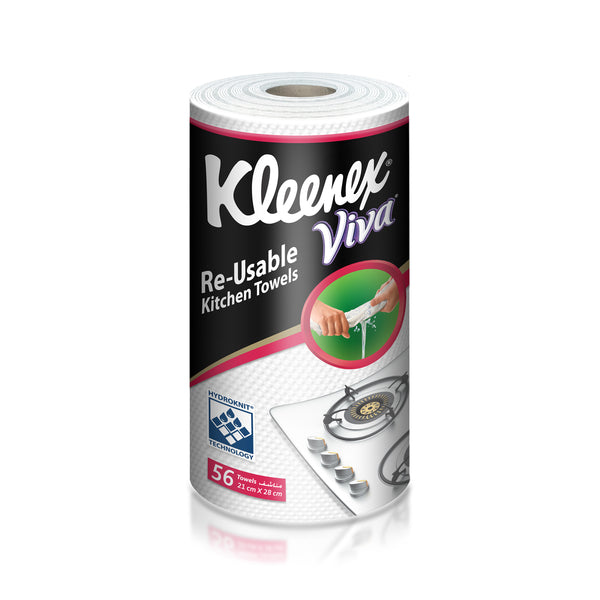 Kleenex Hydroknit Reusable Kitchen Towel 56sheets
