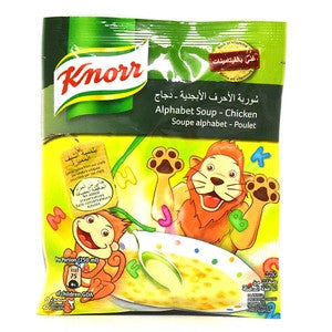Knorr Chicken Alphabet Soup 50g x 12 Pieces