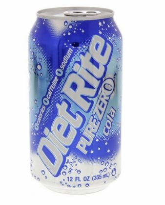 Splenda Diet Rite Pure Zero Cola 355ml