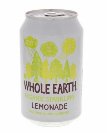 Whole Earth Organic Sparkling Drink Lemonade 330ml