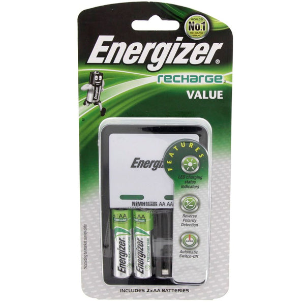 Energizer Value Charger + Rechargeable AA Battery